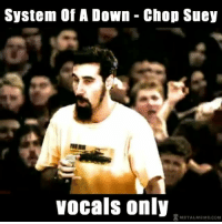 Meme, Memes, and Metal: System Of A Down Chop Suey  Vocals only  METAL MEME COM Chop suey (vocals only)