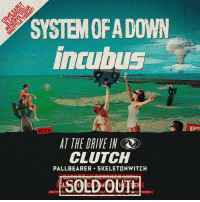 Chill, Club, and Food: SYSTEM OFA DOWN  ncubus  WITH  AI THE DRIVE IN  CLUTCH  PALLBEARER SKELETONWITCH  BUY TICA  ETMAS  OFFICE Important info for our SOLD OUT show this Saturday at Glen Helen Amphitheater (No tickets will be available at the box office!): . . ARRIVE EARLY - Parking lots will open at 9am & we're expecting a full house (45,000 fans). . . FREE PARK & RIDE - Starting at 9am, the Fontana Auto Club Speedway will offer a free Park & Ride shuttle to the venue. At the Speedway, you can also enter for a chance to win a signed SOAD guitar (winner notified Monday, October 15). The first 500 fans to arrive will each receive a $10 Food & Non-Alcoholic Beverage voucher to use at the show. Swipe up in our story to RSVP for your Park & Ride passes + view the Official Guitar Giveaway rules. . . CARPOOL-RIDESHARE - This will lighten traffic & save you time locating friends. In addition, the first 500 fans to arrive will each receive a $10 Food & Non-Alcoholic Beverage voucher to use at the show. Head over to our Carpool SOAD Giveaway booth in the general parking lot to retrieve your voucher. . REGIONAL SHUTTLE - For those who don't live near the venue, we've partnered with FestDrive to provide direct coach options from all over Southern California, all fully air-conditioned with restrooms. Relax & enjoy a hassle-free ride to & from the venue. Swipe up in our story to get your FestDrive Shuttle pass. . . STAY & CHILL OUT AFTER THE SHOW - We'll have free coffee (from Serj Tankian's own @kavatcoffee - www.kavatcoffee.com), donuts,and we'll be screening This Is Spinal Tap on a 50' movie screen down by the lake if you want to hang out while the parking lots clear. . Full info on allowable items at entry, venue rules & more can be found by searching Glen Helen Amphitheater on the Live Nation site!