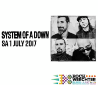We are performing at Rock Werchter, July 2017. Go to systemofadown.com for tickets and info.: SYSTEM OFA DOWN  SA 1 JULY 2017  ROCK 0 ● ●  20  WERCHTER  173 2 JUNE-2 JULY i  FESTIVALPARK WERCHTER BELGIUM  CK  CR  9 We are performing at Rock Werchter, July 2017. Go to systemofadown.com for tickets and info.