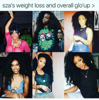 weight loss: sza's weight loss and overall glo'up >