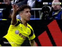Memes, Real Madrid, and 🤖: T 3HD LIVE  QWow  REAL  2.1  DORTMUND Emre Mor the TURKISH MESSI VS Real Madrid 😱😍😍