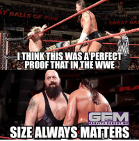 Enzo jobs to big cass and then a day after a man twice big cass' size comes and makes him look like a cockroach. There's the logic for you greatballsoffire wrestling prowrestling professionalwrestling meme wrestlingmemes wwememes wwe nxt raw mondaynightraw sdlive smackdownlive tna impactwrestling totalnonstopaction impactonpop boundforglory bfg xdivision njpw newjapanprowrestling roh ringofhonor luchaunderground pwg: T BALLS OF FIRE  GREAT BAI  THINKTHISWAS APERFECT  PROOF THAT IN THE WWE  GRAVITY.FORGOT.ME  SIZEALWAYS MATTERS Enzo jobs to big cass and then a day after a man twice big cass' size comes and makes him look like a cockroach. There's the logic for you greatballsoffire wrestling prowrestling professionalwrestling meme wrestlingmemes wwememes wwe nxt raw mondaynightraw sdlive smackdownlive tna impactwrestling totalnonstopaction impactonpop boundforglory bfg xdivision njpw newjapanprowrestling roh ringofhonor luchaunderground pwg