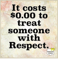 Memes, Respect, and 🤖: t costs  $0.00 to  treat  someone  with  Respect.  95  POSITIVE  WORDS Positive Words <3