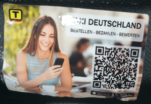 Google, Meme, and App Store: T  DEUTSCHLAND  BESTELLEN-BEZAHLEN BEWERTEN  Download on the  App Store  GET IT ON  Google Play Found that girl from that meme...what is she doing endorsing german taxi app?