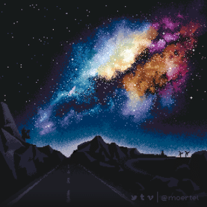 Tumblr, Blog, and Space: t emoertel photos-of-space:  [OC] Pixel Art Milky Way (270x270)