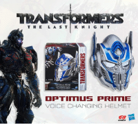 T H E  L A S T  K M I G H T  A WARNING  OPTIMUS PRIME  OPTIMUS PRIN ME  VOICE CHANGING HELMET  EB  GAMES Just announced! The Transformers: The Last Knight - Optimus Prime Voice Changing Helmet by Hasbro!! Available in-store and online here: http://bit.ly/EBNZ_Optimus_Helmet   — Products shown:  Transformers: The Last Knight - Optimus Prime - Voice Changing Helmet.