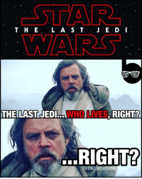 """New StarWars title is released... TheLastJedi. 😧😨 While epic, the """"last"""" part makes me fearful for LukeSkywalker. He better make to episode 9, ya'll... What do you guys think of the new Episode8 title? StarWarsTheLastJedi: T H E  L A S T  VA RSS  THE LAST JEDI  S, RIGHT?  GHT? New StarWars title is released... TheLastJedi. 😧😨 While epic, the """"last"""" part makes me fearful for LukeSkywalker. He better make to episode 9, ya'll... What do you guys think of the new Episode8 title? StarWarsTheLastJedi"""
