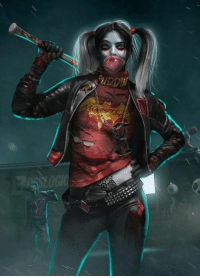 Harley Quinn (Suicide Squad/The Walking Dead mash-up) by Bosslogic ~K~: t? Harley Quinn (Suicide Squad/The Walking Dead mash-up) by Bosslogic ~K~