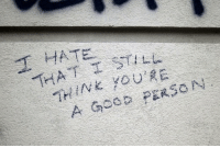 """thine: """"T  HATE.  THINE YOURE  A Gosa PERSON"""