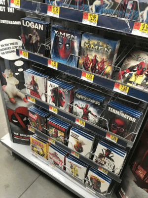 Future, Today, and The Original: T IN  LOGAN  TBEDREAMIN  HA HA! THESE  ACKAGES CONTAIN  THE ORIGINAL  DAYS OF FUTURE PAS  188 7.88  SEE SPECIA  SUPPLIES This endcap at the store today