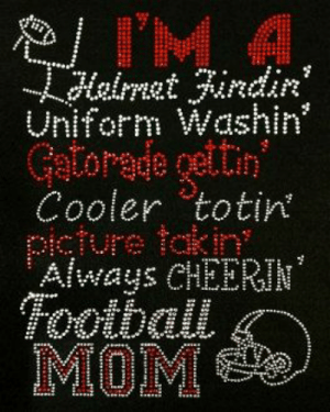 Sports Mom T-Shirt SOCCER Iron on Rhinestone Tank Top The Real Moms of