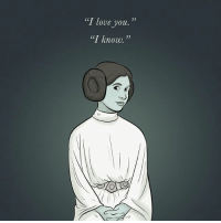 """It's been a year without Carrie Fisher and the galaxy has been just a little bit darker ever since. RIP Princess Leia ✨💖: """"T love you.""""  35  35  l know. It's been a year without Carrie Fisher and the galaxy has been just a little bit darker ever since. RIP Princess Leia ✨💖"""