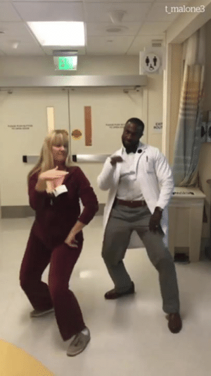 This dancing doctor is giving off good vibes ❤️: t malone3  EXIT This dancing doctor is giving off good vibes ❤️