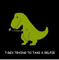 T-REX TRYING TO TAKE A SELFIE