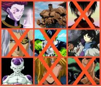 Sensui of Ghost Fighter is now Eliminated.  Time to Eliminated again :)  NOTE : Comment the anime villain character you wanted to ELIMINATE from them.  1 VOTE per person per wave only :) After Voting, th voting will reset again to 0.  5th Elimination will end 9 am tomorrow . #QuickGame  Search for 90's Kid Male Worst Villain (y) Vote wisely  List:  ::: Hisoka of Hunter X Hunter ::: Toguro of Ghost Fighter ::: Kurei of Flame of recca (ELIMINATED) ::: Pegasus of Yugioh (ELIMINATED) ::: Cell of Dragon Ball (ELIMINATED) ::: Naraku of Inuyasha ::: Frieza of Dragon Ball ::: Nakago of Fushigi Yuugi (ELIMINATED) ::: Sensui of Ghost Fighter  (ELIMINATED): t Sensui of Ghost Fighter is now Eliminated.  Time to Eliminated again :)  NOTE : Comment the anime villain character you wanted to ELIMINATE from them.  1 VOTE per person per wave only :) After Voting, th voting will reset again to 0.  5th Elimination will end 9 am tomorrow . #QuickGame  Search for 90's Kid Male Worst Villain (y) Vote wisely  List:  ::: Hisoka of Hunter X Hunter ::: Toguro of Ghost Fighter ::: Kurei of Flame of recca (ELIMINATED) ::: Pegasus of Yugioh (ELIMINATED) ::: Cell of Dragon Ball (ELIMINATED) ::: Naraku of Inuyasha ::: Frieza of Dragon Ball ::: Nakago of Fushigi Yuugi (ELIMINATED) ::: Sensui of Ghost Fighter  (ELIMINATED)