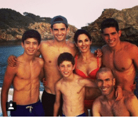 Soccer and Zidane: t The Zidane family.