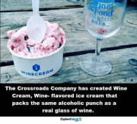 Dreams DO come true 🙌😍: T v A L  I 6  INEC REA  The Crossroads Company has created Wine  Cream, Wine- flavored ice cream that  packs the same alcoholic punch as a  real glass of wine.  Talent A  Explore Dreams DO come true 🙌😍