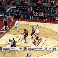 LIKE NBA Vines!: T Virginia Tech  40  Boston College  25  1st  4.13 (6 6  BONUS t  7.20 (014)  BONUS POSS BOSTON COLL LIKE NBA Vines!
