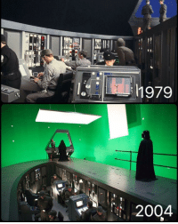 Q: CGI or Physical effects? The Empire Strikes Back VS Revenge Of The Sith. starwarsfacts: t1.  h979  2004  IL  00? Q: CGI or Physical effects? The Empire Strikes Back VS Revenge Of The Sith. starwarsfacts