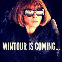 Coneing: WINTOUR IS COMING  嚚囂