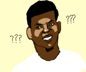 Confused Nick Young drawing by SmallBaguette - Drawception: T7  7 Confused Nick Young drawing by SmallBaguette - Drawception