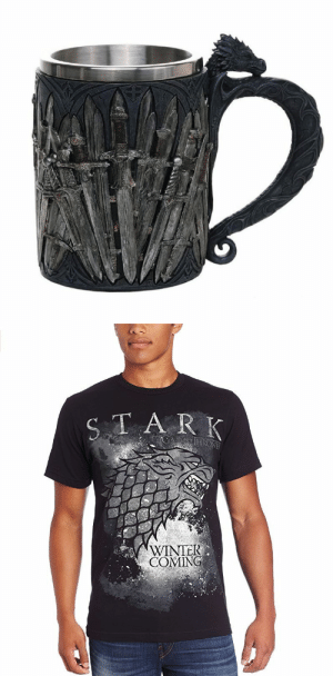 novelty-gift-ideas:Winter is Coming Heat Changing Mug  Game of Thrones Dragon Tankard    Stark T-Shirt  : TA R K  WINTEK  COMING novelty-gift-ideas:Winter is Coming Heat Changing Mug  Game of Thrones Dragon Tankard    Stark T-Shirt