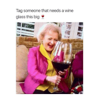 Wine, Girl Memes, and Glass: Taa someone that needs a wine  glass this big *tags myself*