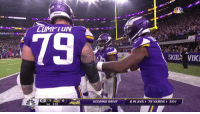 Football, Nfl, and Sports: tadium  SKOL IKI  SCORING DRIVE  6 PLAYS 75 YARDS3:01  1st 2:53 The Vikings really celebrated a TD by doing the limbo https://t.co/BPyVytt4E2