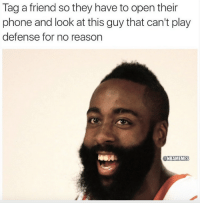 Nba, Nationals, and Play: Tag a friend so they have to open their  phone and look at this guy that can't play  defense for no reason  @NBAMEMES Tag someone. #Rockets Nation