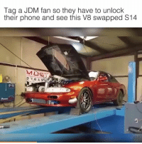 Tag away! 📹:Chris Becker: Tag a JDM fan so they have to unlock  their phone and see this V8 swapped S14  D Y N A MR  Power Tag away! 📹:Chris Becker