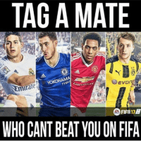 Get tagging 😏: TAG A MATE  TYRE  irate  FIFA17  WHO CANT BEAT YOU ON FIFA Get tagging 😏