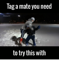 Wrestling moves in the snow looks fun 😂: Tag a mate you need  #HaroonTV  to try this with Wrestling moves in the snow looks fun 😂