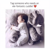 Memes, Animal, and Elephant: Tag someone who needs an  ele-fantastic cuddle! CYBER WEEK SALE 💜Somebody get me this Elephant Baby Sleeping Cushion pleeeeaase 😍🐘 • Perfect for playtime and nap time. Acts as a pillow and playful stuffed animal. It'll keep your child calm while they sleep & happy while they play 😊👶 • 60% Off Today Only! Tap the link in @free.spirit.wonders bio to grab yours 💗 • elephant elephants baby toddler plush plushies plushiesofinstagram plushie stuffedanimal stuffanimals plushielife elephantlove elephantlover elephantsofinstagram babytoys babytoy babyshower babyfever babies babyboy babygirl cutestbabyever cutestbaby toddlerfashion toddlerlife babiesofinstagram babylove