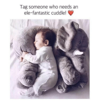 Funny, Animal, and Elephant: Tag someone who needs an  ele-fantastic cuddle! CYBER WEEK SALE 💜Somebody get me this Elephant Baby Sleeping Cushion pleeeeaase 👏🐘 • Perfect for playtime and nap time. Acts as a pillow and playful stuffed animal. It'll keep your child calm while they sleep & happy while they play 😊👶 • 60% Off Today Only! Tap the link in @free.spirit.wonders bio to grab yours 👏