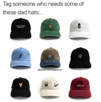 Dad, Memes, and Dick: Tag someone Who needs some of  these dad hats...  Executive Producer  DICK WOLF  @dadbrandapparel My personal favorite is the 🍕 dad hat 😎. These are from @dadbrandapparel and they're doing a promo with my code: PABLO15 be sure to use that to get 15% OFF 🙌