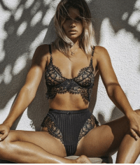 Af, Funny, and Lingerie: Tag someone who would look HOT AF in this! Lissa Lingerie Set: available from @tropic.mantra 30% OFF with code: THINK30