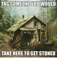 Memes, Tag Someone, and 🤖: TAG SOMEONE YOU WOULD  TAKE HERE TO GET STONED