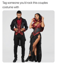 Funny, Halloween, and Tag Someone: Tag someone you'd rock this couples  costume with Rock it on Halloween @FashionNova