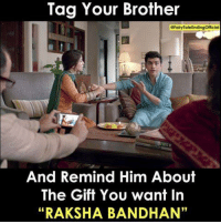 "raksha bandhan: Tag Your Brother  And Remind Him About  The Gift You want In  ""RAKSHA BANDHAN"""