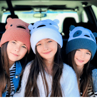 Cute, Memes, and Bear: Tag your buds who need these cute & cozy bear beanies 🐻🐼❄️ (Now 20% off @hottopic! Link in our bio) . webarebears ootd kidfashion . 📷: @ksisterslove