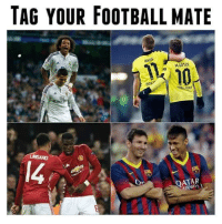 """Crime, Soccer, and Qatar: TAG YOUR FOOTBALL MATE  REUS  DORT""""  QATAR Tag your partner in crime. The Özil to your Alexis."""