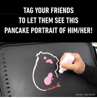Oh my god! This totally looks like my friend. 🐷 (By TigerTomato): TAG YOUR FRIENDS  TO LET THEM SEE THIS  PANCAKE PORTRAIT OF HIMIHER!  Youtube: TigerTomato Oh my god! This totally looks like my friend. 🐷 (By TigerTomato)