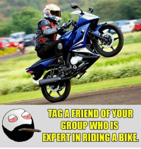 Be Like, Meme, and Memes: TAGAFRIEND OF YOUR  GROUP WHOIS  EXPERT IN RIDING A BIKE Twitter: BLB247 Snapchat : BELIKEBRO.COM belikebro sarcasm meme Follow @be.like.bro