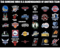 Who's the biggest bandwagoner you know?: TAGSOMEONE WHO ISABANDWAGONER OF ANOTHER TEAM  NETS  DETROIT  RTO  BUCKS  MIAMI.  HEAT  @NBAMEMES  LIPPERS  MEMPHIS  TIMBERWOLVES  SUITS  CHICAGO  BULLS  HOUSTON DODKETS  DRIET  WIZARDS Who's the biggest bandwagoner you know?