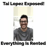 Memes, 🤖, and Hot Wheels: Tai Lopez Exposed!  Everything is Rented I have a confession. Yes it's all a scam. My lambos are actually hot wheels giant rented replicas. Haha I love my twitter roasts... You have to see the war... tailopezscam