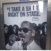 """TAKE A SHIT  RIGHT ON STAGE  PITBULL  """"Mr. Worldwide"""" That's a show I'd pay to see"""