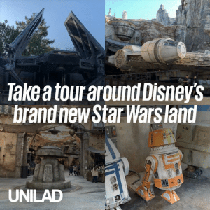 Dank, Star Wars, and Star: Take a tour around Disneys  brand new Star Wars land  UNILAD The Star Wars theme park, Galaxy's Edge, has officially opened its doors and it looks INCREDIBLE 😍🚀  Theme Park Review