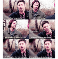 [12.15] Sam thought Dean was concerned about the girl being hunted by hell hounds but no 😂 Baby and Dean are the true otp . . QOTD: whats your dream car? . . Aotd: z06 corvette (but it changes every year) . . . . . supernatural spn spnfamily cw jensenackles jaredpadalecki mishacollins deanwinchester samwinchester castiel cas akf season12: Take care of her  Of course.  @Winchestrs  You tend to ride the brakes.  You're talking about the car.  Just imagine she's a woman. A beautiful beautiful woma [12.15] Sam thought Dean was concerned about the girl being hunted by hell hounds but no 😂 Baby and Dean are the true otp . . QOTD: whats your dream car? . . Aotd: z06 corvette (but it changes every year) . . . . . supernatural spn spnfamily cw jensenackles jaredpadalecki mishacollins deanwinchester samwinchester castiel cas akf season12
