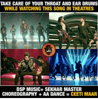 Memes, Music, and youtube.com: TAKE CARE OF YOUR THROAT AND EAR DRUMS  WHILE WATCHING THIS SONG IN THEATRES  PAGE  RTA  DSP MUSIC SEKHAR MASTER  CHOREOGRAPHY AA DANCE CEETI MAAR Seeti maar promo out... THEATRES lo ee song Racha peaks https://m.youtube.com/watch?feature=youtu.be&v=DzQhTeo2uoc #DJ