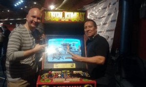 Taken at Retroworld Expo 2016. Played a round of the original Mortal Kombat arcade game against Johnny Cage himself, Daniel Pesina. He also motion captured Sub-Zero in the game. So I played Cage. He played Sub-Zero. I won, but since he played both characters, Daniel Pesina won, lol.: Taken at Retroworld Expo 2016. Played a round of the original Mortal Kombat arcade game against Johnny Cage himself, Daniel Pesina. He also motion captured Sub-Zero in the game. So I played Cage. He played Sub-Zero. I won, but since he played both characters, Daniel Pesina won, lol.
